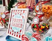 Carnival Collection. Prize Table Sign. DIY.  Digital Download File. Pinkadot Shop