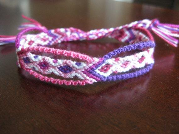 Fancy Diamond Friendship Bracelet in Pinks