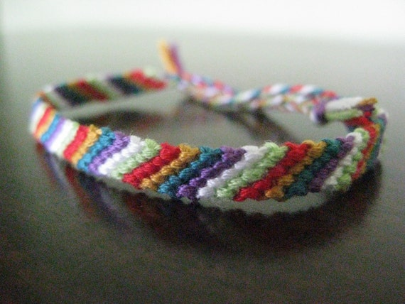 6 Color Basic Stripes Friendship Bracelet