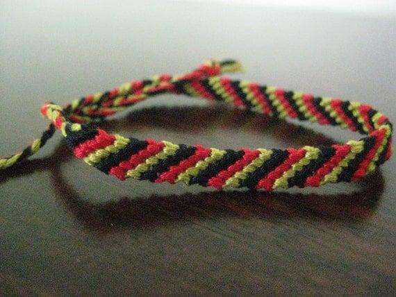 Tri Color Friendship Bracelet