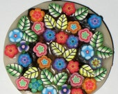 Floral Polymer Clay Handmade Pendant Item Number 306