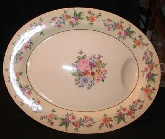 Haviland Springtime Serving Platter - Vintage Haviland-1937/Wedding Shower/ Wedding Gift/ Vintage China/ Table Deco