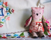 Little rose  owl, soft art toy by Wassupbrothers