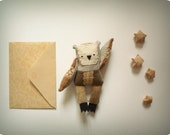Barney   -   Little  Owl, soft art toy by Wassupbrothers