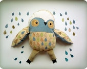 Marcus Big  Owl, soft art toy creature  by  Wassupbrothers.