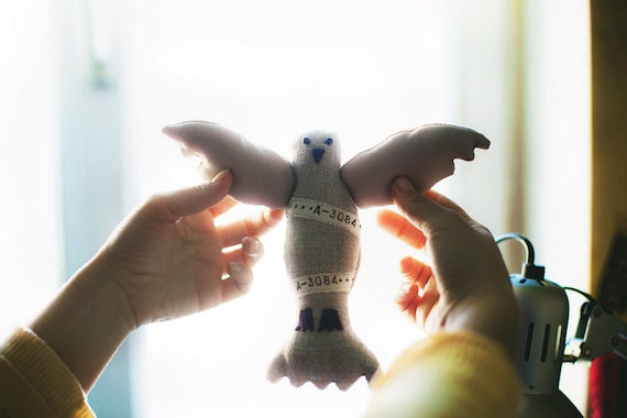 Postal pigeon, soft toy by Wassupbrothers