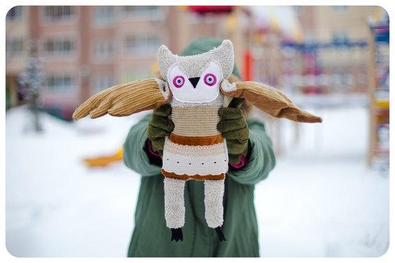 Henri Owl, soft toy by  Wassupbrothers.