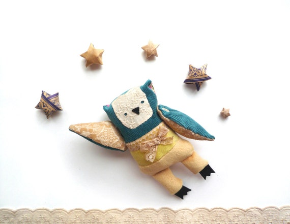 Beatrice  -   Little Owl, soft toy by Wassupbrothers
