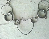 Industrial Hearts Bracelet - One of a Kind (OOAK) Valentines Day SALE