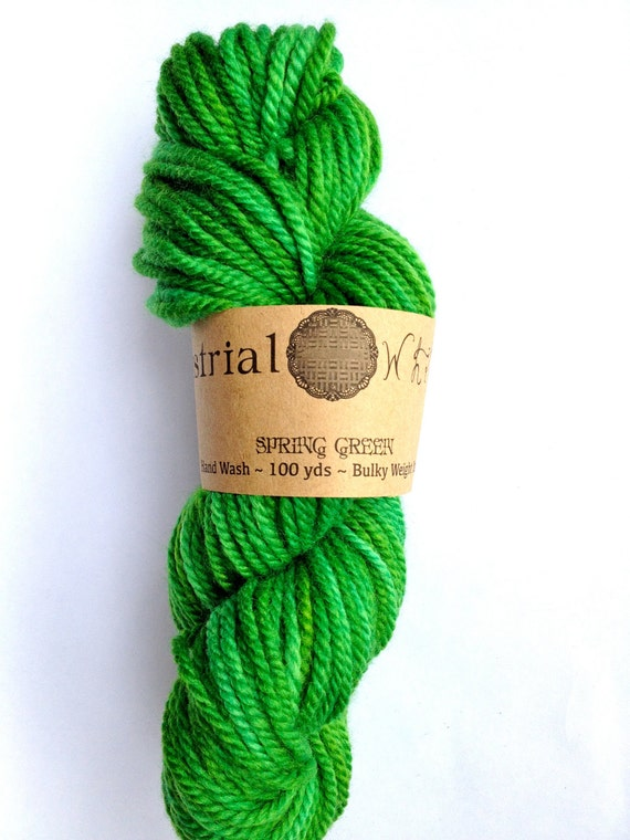 Spring Green Hand Dyed Yarn Bulky - READY TO SHIP