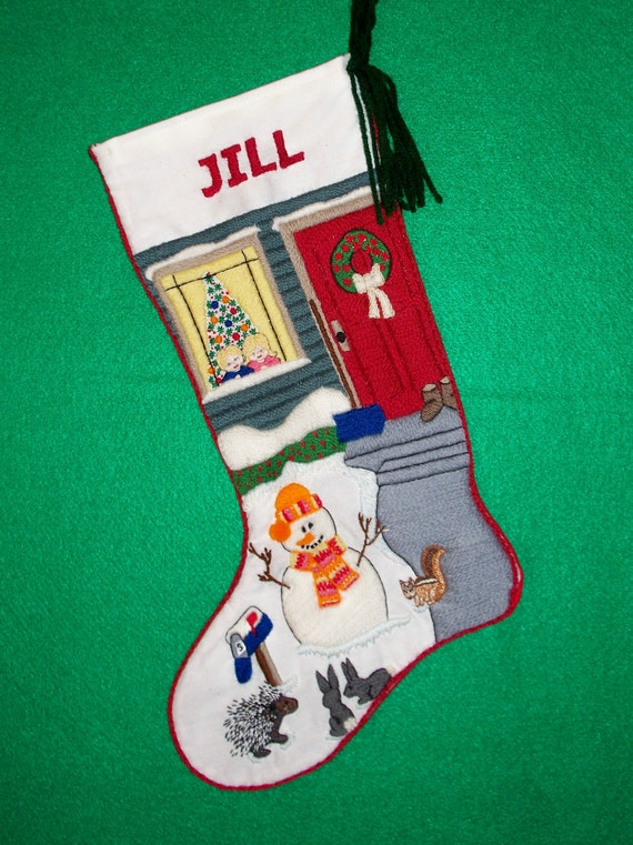 Crewel Embroidery Christmas Stocking Kit By PrigrauceCrewel