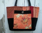 RESERVED For Calico Kat ... Do not buy unless you are she ... Fabric Tote Handbag with Large Pocket ... European Class
