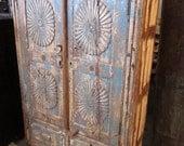 SALE Vintage Indian Blue Cabinet RESERVED Maylin