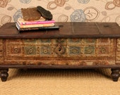 Repurposed Antique Trunk Coffee Table  RESERVED for Eliza