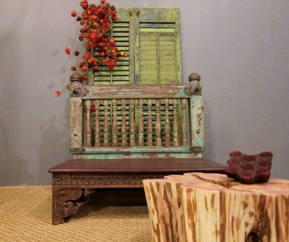 Sale Vintage Balcony Rail Bench By Hammerandhandimports On Etsy