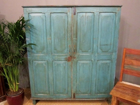 Antique Blue Cupboard