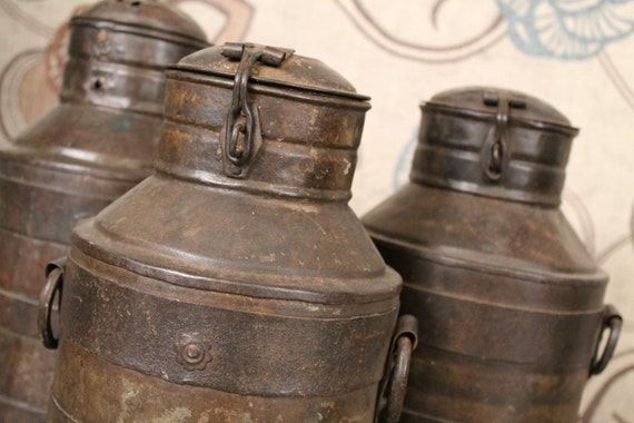 Antique Indian Metal Milk Jug