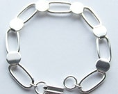 Silver Plated Bracelet Form for Crafting and Embellishing 7.5 inches LARGE