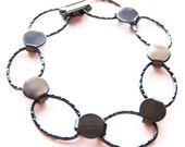 5 Gunmetal Hammered Oval Bracelet Form for Crafting and Embellishing 7.25 inches