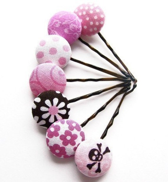 DIY Digital PDF Tutorial for Making Fabric Covered Button Bobby Pins EMAILED to you