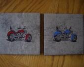 SALE  Motorcycle Slate Coasters  7.00 dollars were 10.00