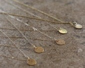 Bridesmaid initial necklaces-set of 5 14k gold filled initial charm necklaces