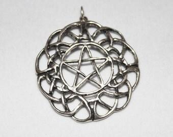 BIG Celtic Pentacle Pentagram Pendant Sterling Silver P003