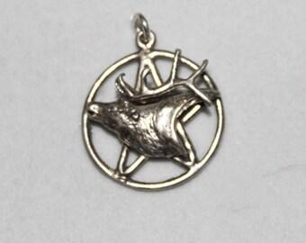 Hern Wild Hunt Pentacle Pentagram Sterling Pendant P045