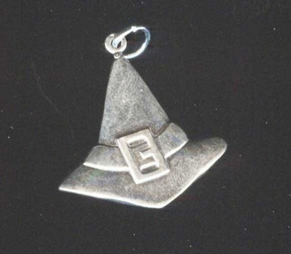 Sterling Silver Witch Hat Pendant Charm Witchy Jewelry Sy067