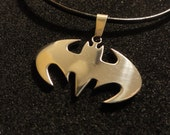 BATMAN Leather Thong Super Hero Necklace (adjustable) Unisex