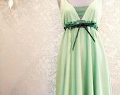 mint and chocolate dress