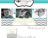 Premade Facebook Cover and Profile Picture Set with your own photos added