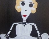Day of the Dead Marilyn Monroe Painting, 16 x 20