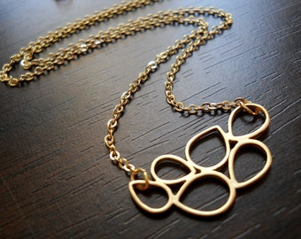 EFERVESCENCE-Matte Gold Plated Bubble Necklace