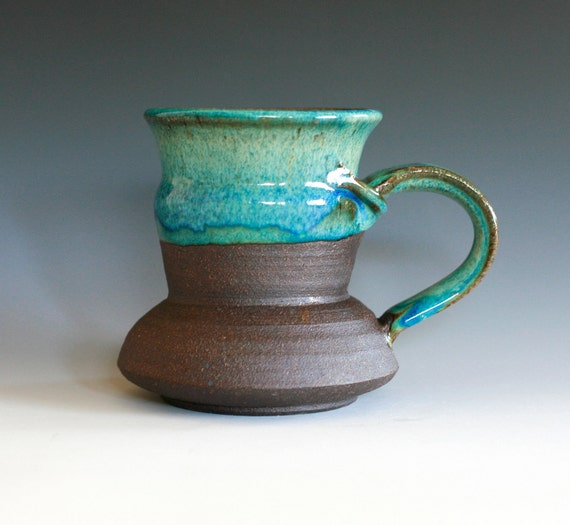 Large Coffee Mug, Holds 16 oz, handmade ceramic cup, ceramic stoneware mug, coffee cup