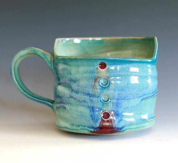 Coffee Mug, Holds 16 oz, handmade ceramic cup, ceramic stoneware mug