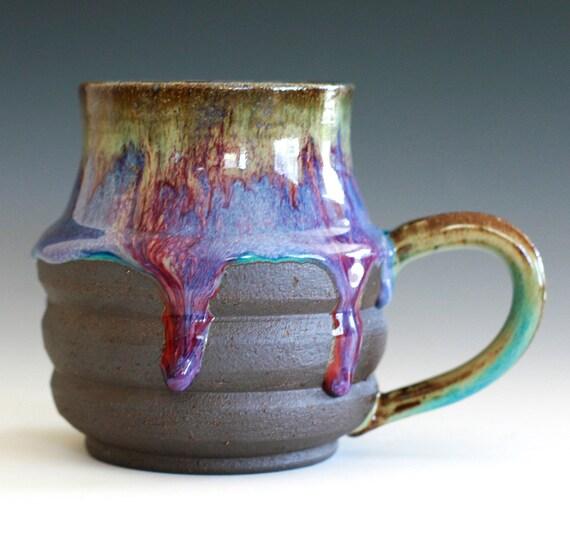 Large Coffee Mug, Holds 17 oz, handmade ceramic cup, coffee cup