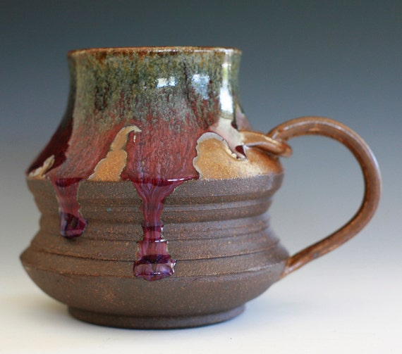 Large Coffee Mug, Holds 18 oz, handmade ceramic cup, coffee cup
