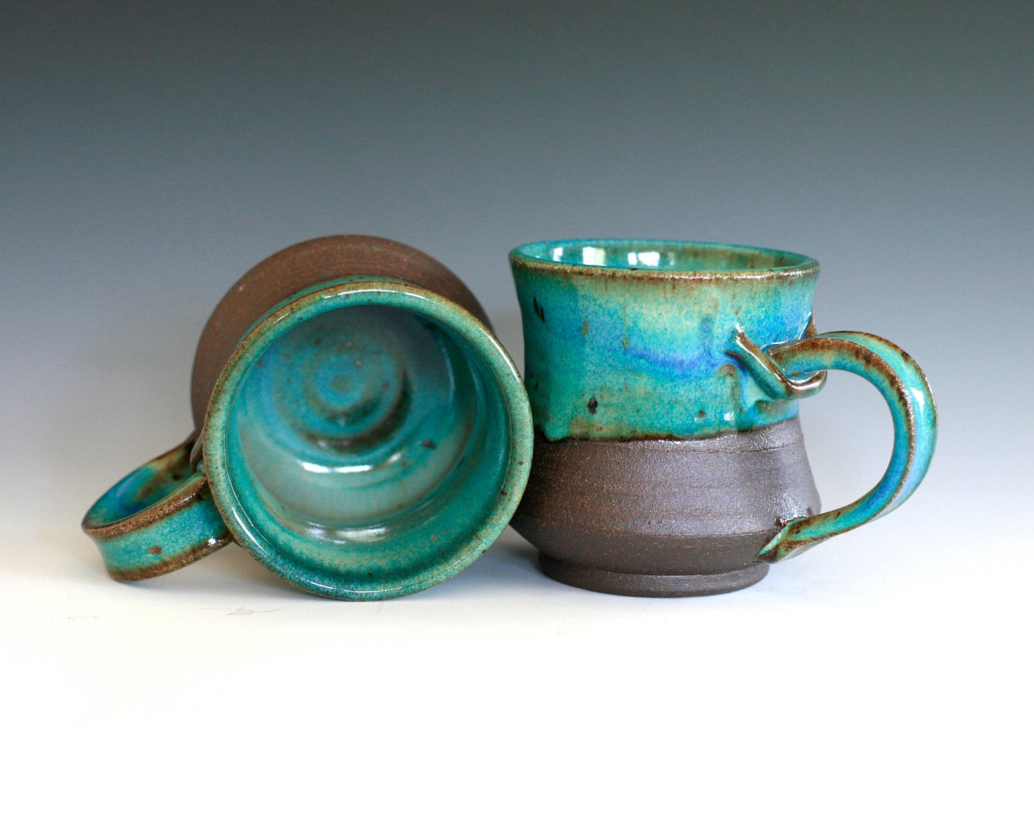 Pair Of Coffee Mugs Handmade Ceramic Cups Ceramic Stoneware