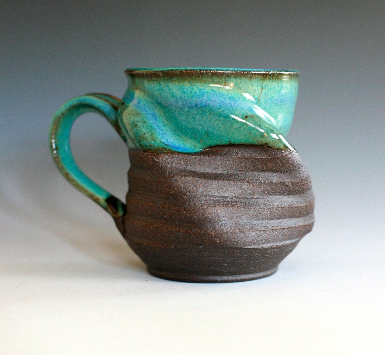 Twisted Coffee Mug handmade ceramic cup ceramic stoneware