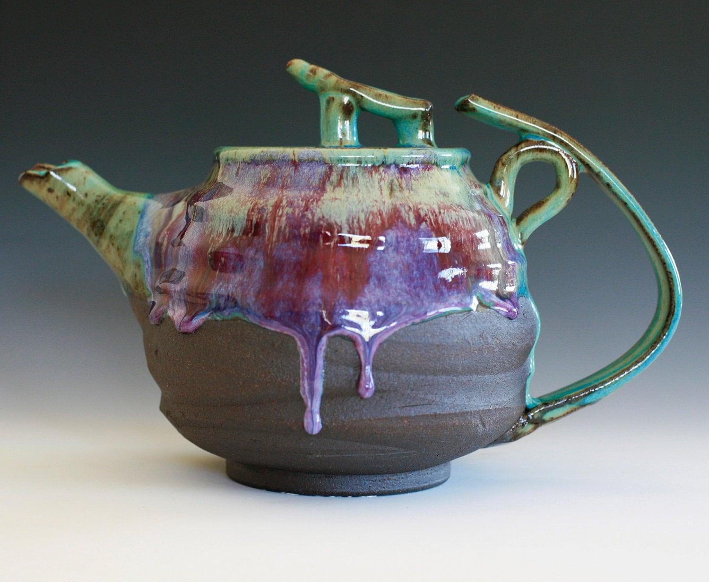Yuri Lotus Teapot Handmade Stoneware Teapot Holds 60 Oz