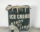 vintage ice cream cooler