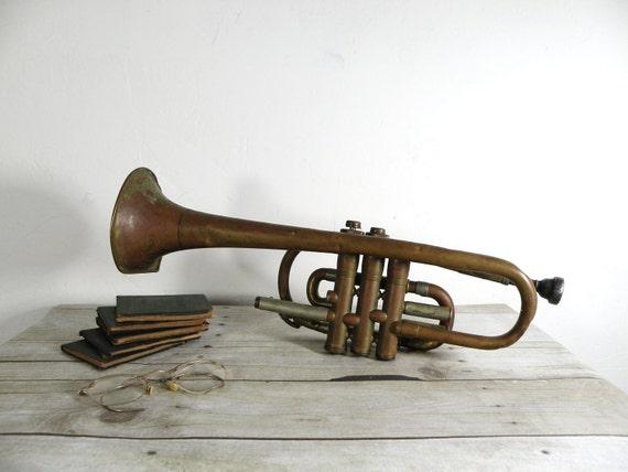antique jazz trumpet