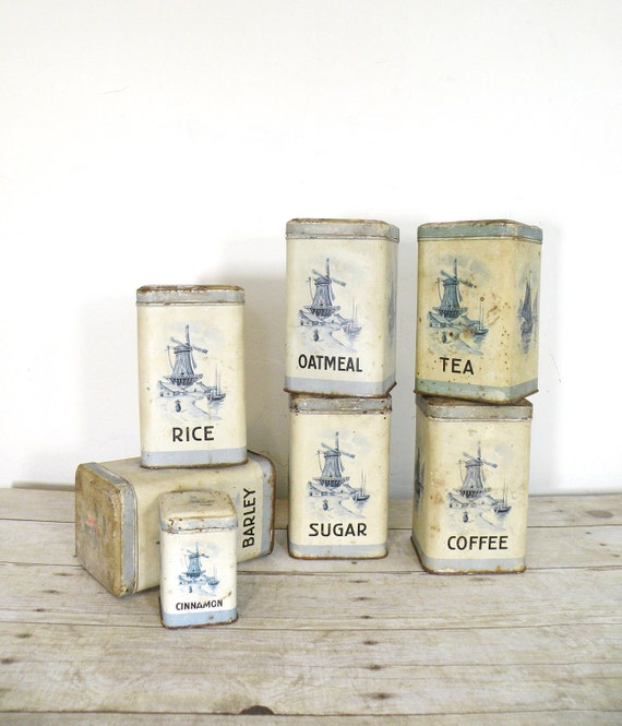 Vintage kitchen canister set for Kitchen set vintage