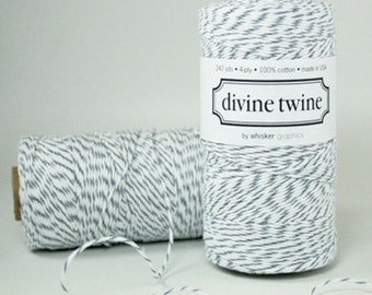 Oyster Divine Twine (240 yds) Gray and White