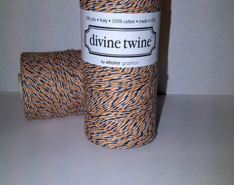 Halloween Divine Twine (240 yds) Orange, White and Black