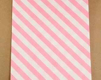Pink Stripped Bitty Bags