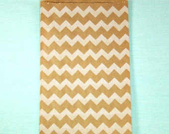 White Chevron Bitty Bags