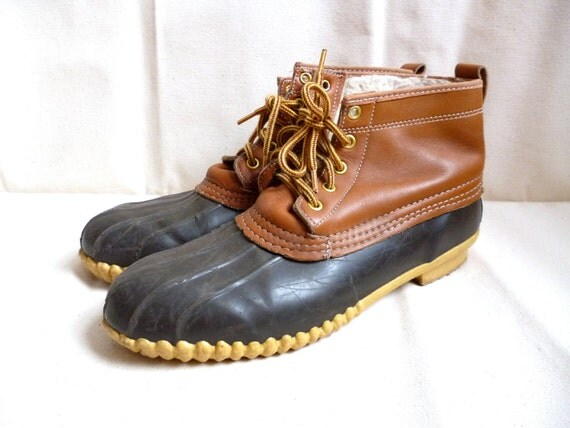 Vintage Sporto USA Made Leather / Rubber Duck Boots W10 / M9