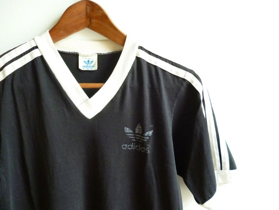 Vintage Adidas Black Soccer shirt USA Mens M